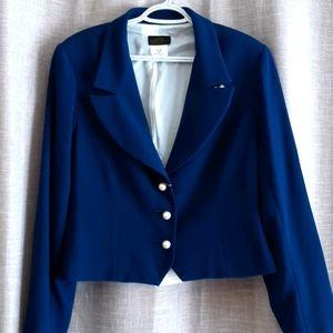 NWT Linda Lundstrom Blue Jacket Size 14